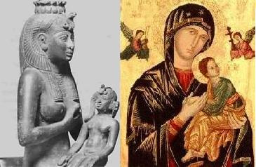 Holy mothers: Isis and Mary