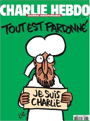 Cover of Charlie Hebdo right after the attack