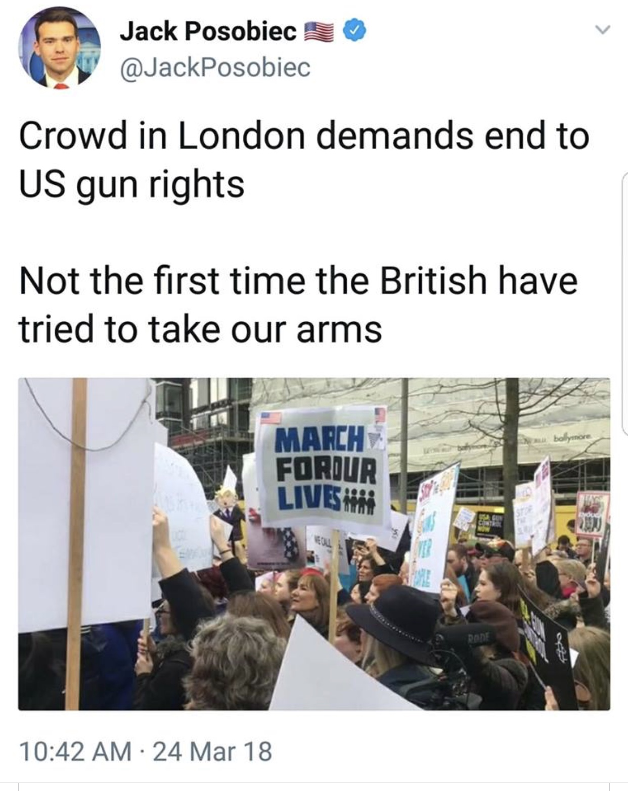 Brits Take Our Guns