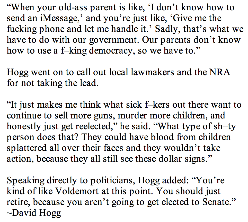 David Hogg quote